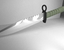Special Forces Knife 3D asset low-poly