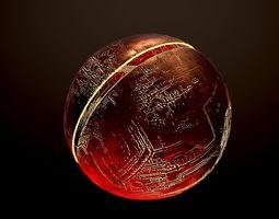Fire planet 3D asset