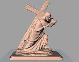 3D print model Christianity Jesus Christ carry the Cross