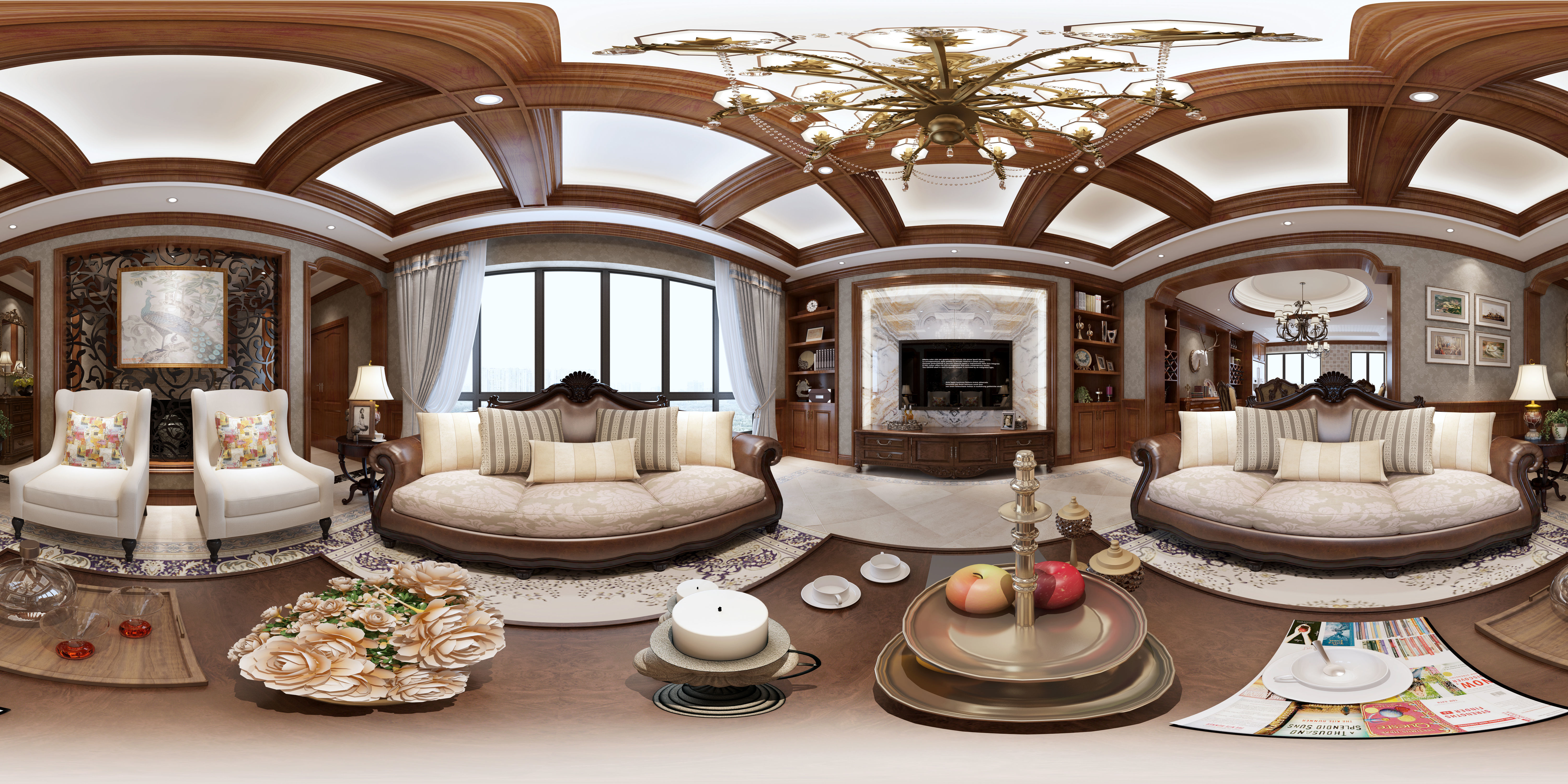 3D American style Living room | CGTrader