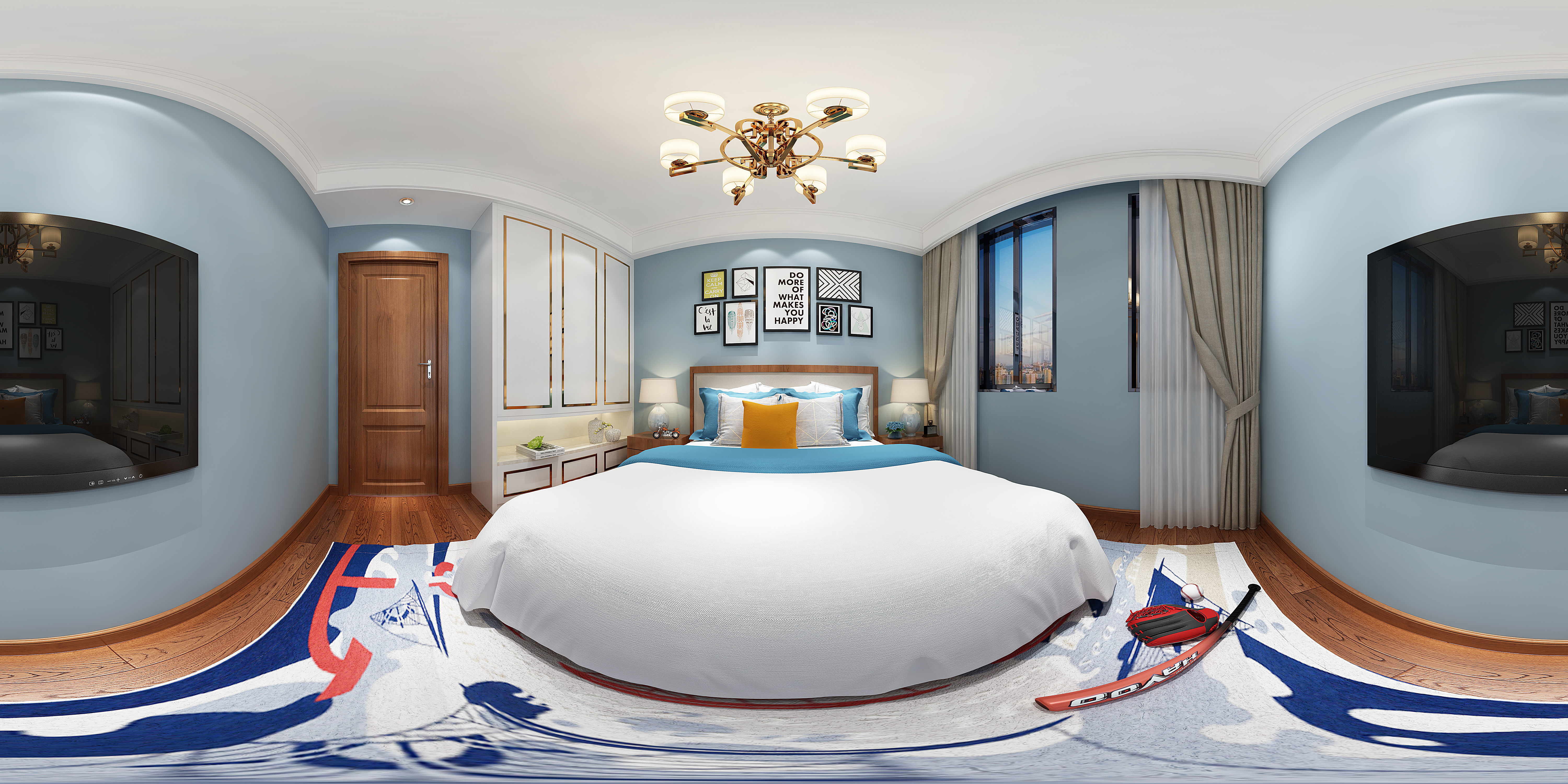 3D Model American Style Bedroom Inspirational 3ds Max Interior Models