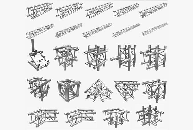 Square Truss Standard Collection - 24 PCS Modular