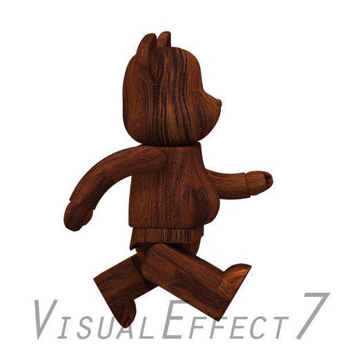Dark Wood Bear Brick