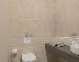 3D Small toilet room