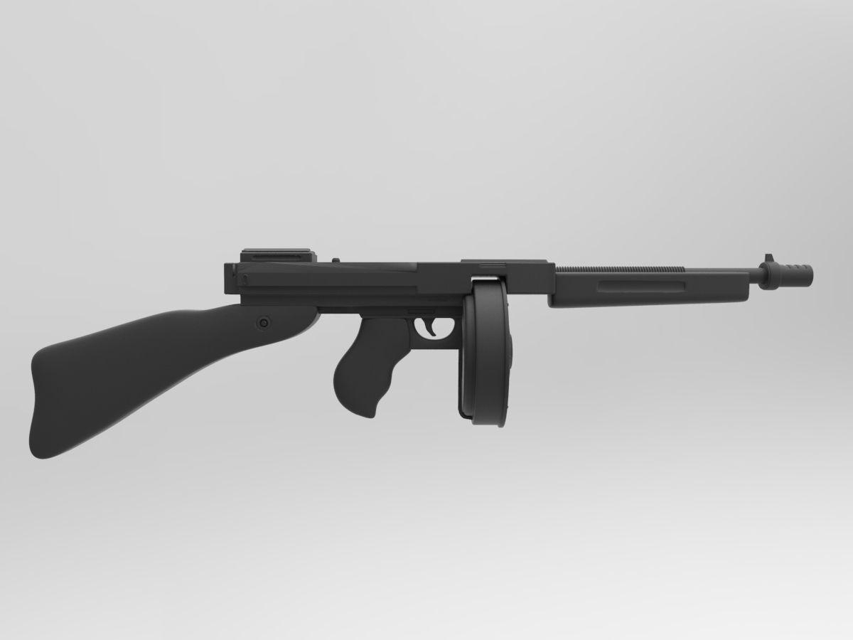 Thompson M1A1 | 3D model