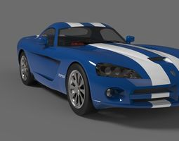 3D asset Dodge viper srt 10 coupe