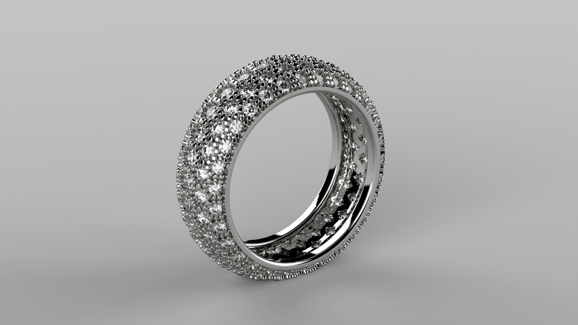 jewellery rings ring white cut gold diamond eternity round pin in