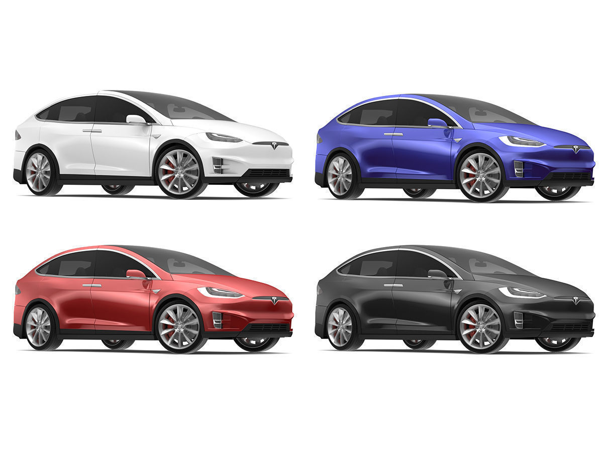 2017 Tesla X Multi Colors 3D   CGTrader