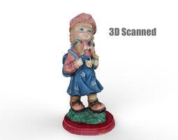 3D Little Girl Scanned