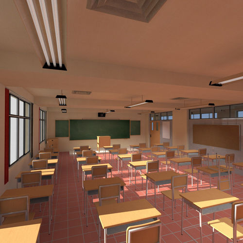 Anime Classroom 3d Cgtrader