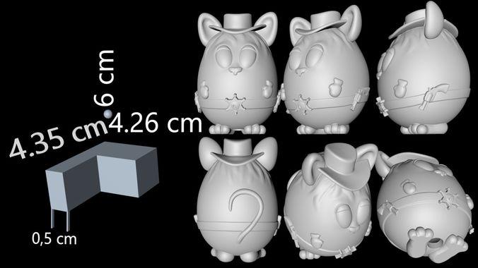 mouse sheriff 3d print model 3d model fbx c4d stl ztl 1