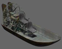 3D rigged Airboat