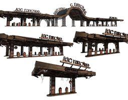 Gas station gasoline engine 3D model