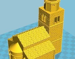 3D printable model Medieval Church 10