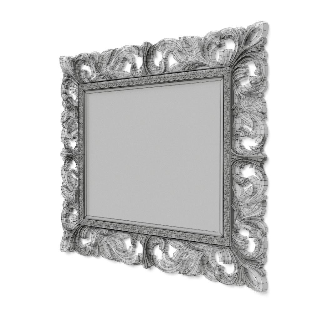 Italian luxury classic frame with mirror 3D | CGTrader