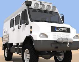 Panel Van Truck 4x4 3D
