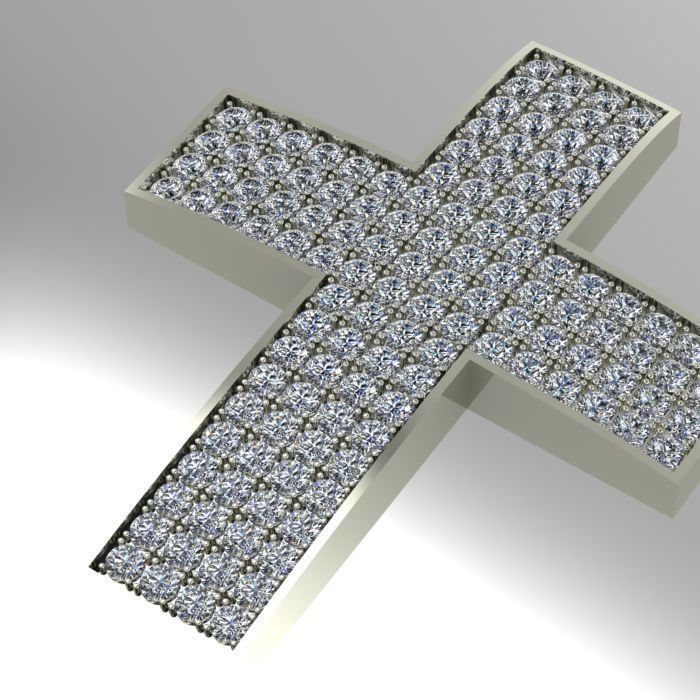 Large diamond cross pendant 3d print model cgtrader large diamond cross pendant 3d model stl 3dm 1 mozeypictures Choice Image