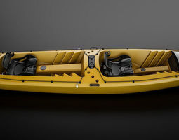 3D animated two person kayak