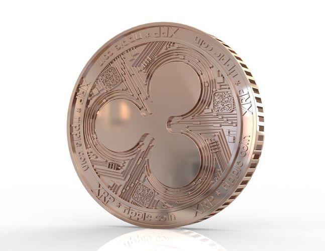 ripple xrp coins 3d model stl 1