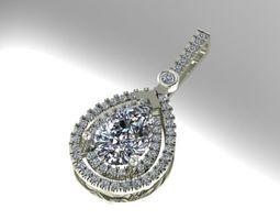pear shape diamond pendant 3D printable model