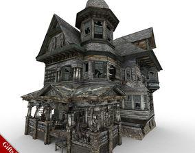 Abandoned House 01 3D asset VR / AR ready