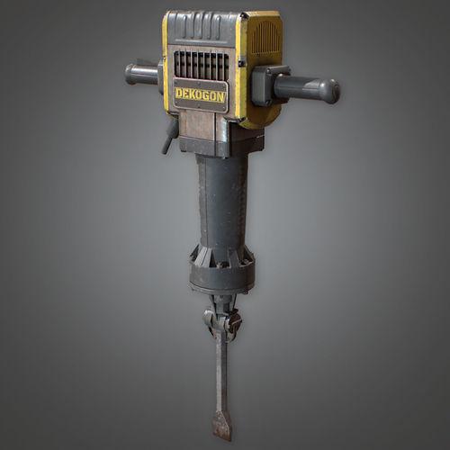 CON - Jackhammer Construction - PBR Game Ready