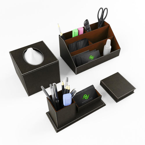 stationery set on the desk 3d model max obj mtl fbx 1