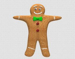 Gingerbread Man 3D asset rigged