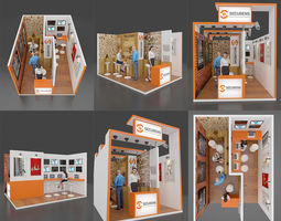 3D model Exhibition stall architectural