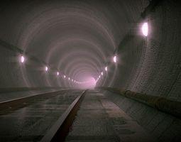Underground Subway rail 3D