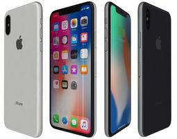 electronic 3D Apple iPhone X All Colors