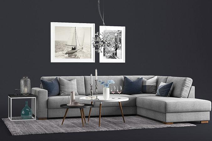 More Bento Sofa with Dixie Sofatable Set