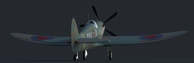 spitfire 3d model obj mtl fbx ma mb 1
