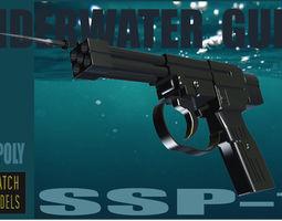 SS P-1 Underwater gun 3D asset
