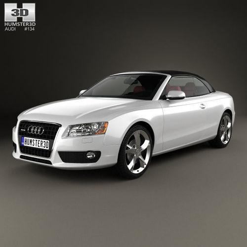 audi a5 cabriolet with hq interior 2009 3d model max obj mtl 3ds fbx c4d lwo lw lws 1