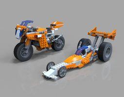 Lego Moto Bike pack 3D asset