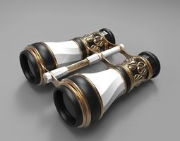 Binoculars Opera Glasses - Art Deco 3D model