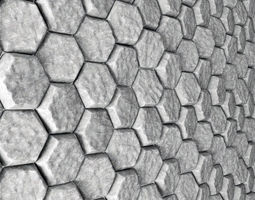 Stone panel hexagon n5 3D