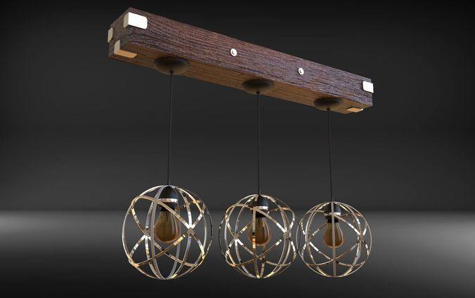 Gyroscope Lamp with lightbulb