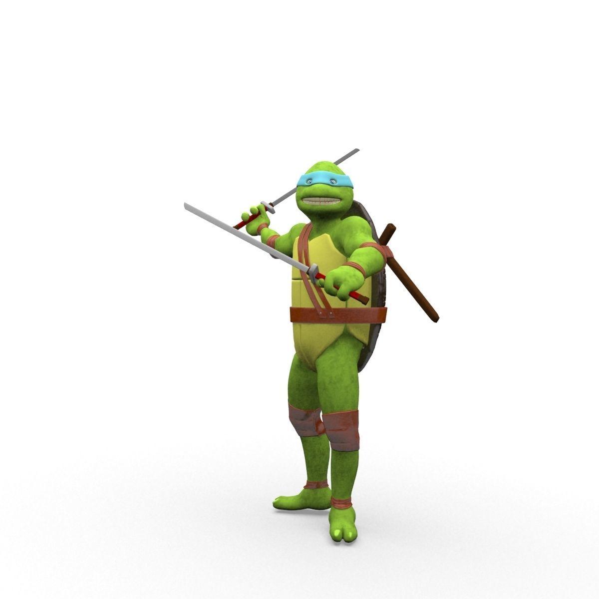3d Model Teenage Mutant Ninja Turtles Leonardo