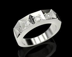 3D print model Ring of 5 stones