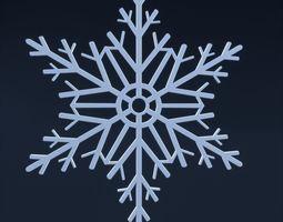 Snowflake 3D asset
