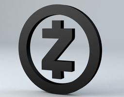 financial Zcash Crypto Currency 3D Logo