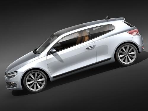 volkswagen scirocco 3d model max 3ds. Black Bedroom Furniture Sets. Home Design Ideas