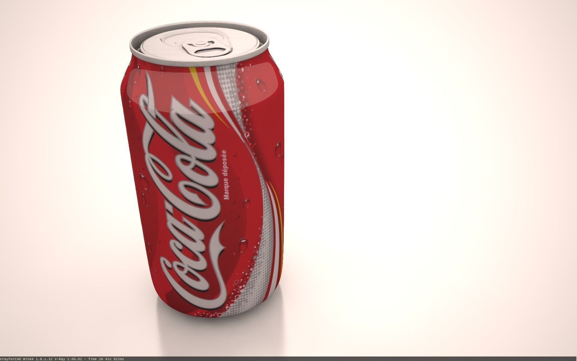Coca Cola Can 3D Model .obj .c4d