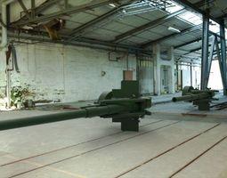 3D model 155 mm gun M1 Long Tom and M115 203 mm