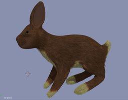 3D asset VR / AR ready Rabbit