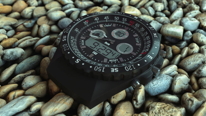 very detailed hq watch clock 3d model fbx c4d 1