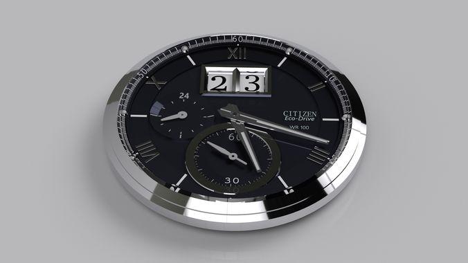 detailed watch clock piece cinema4d 3d model fbx c4d 1