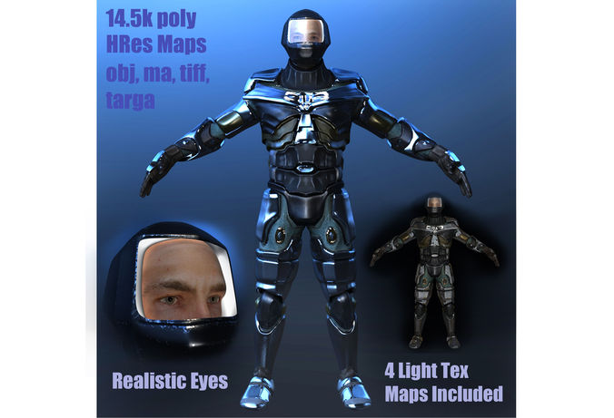 MALE MECH Warrior 013D model